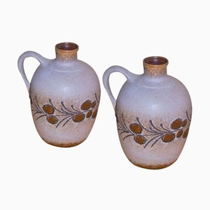Vintage Jugs from Strehla, Set of 2