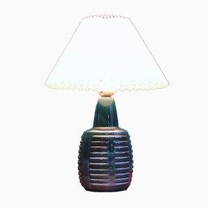 Blue Danish Ceramic Table Lamp by Einar Johansen for Soholm, 1960s