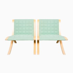 Ax Chairs by Orla Molgaard & Peter Hvidt for Fritz Hansen, 1970s, Set of 2