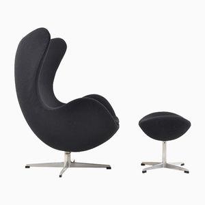 The Egg Chair & Ottoman by Arne Jacobsen for Fritz Hansen, 1963