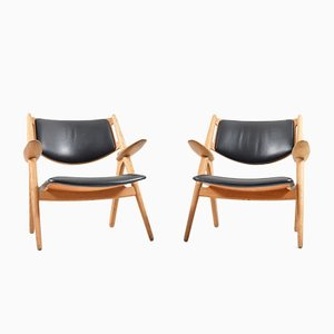 Mid-Century CH-28 Saw Horse Chairs by Hans J. Wegner for Carl Hansen & Son, Set of 2