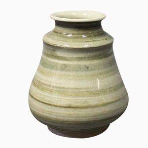 Vaso in ceramica verde di Claus Ivansson per Höganäs, anni '60