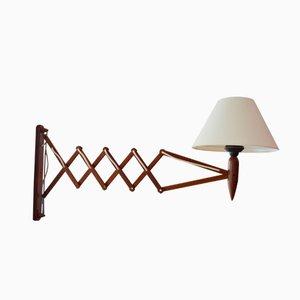 Scandinavian Teak Scissors Lamp by Kaare Klint, 1960s