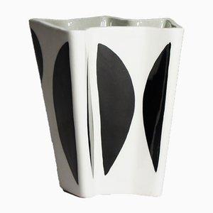 Vintage Kontrasta Steingut Vase von Carl-Harry Stålhane für Rörstrand