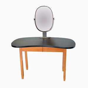 Vintage Kidney Shaped Dressing Table, 1950s