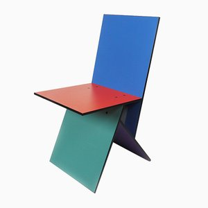 Multi-Colored Vilbert Chair by Verner Panton for Ikea, 1993