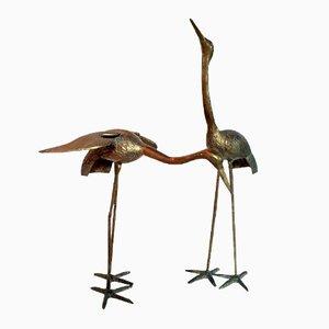 Pájaros de latón. años 60. Juego de 2