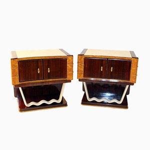 Tables de Nuit Vintage par Oswaldo Borsani pour Mobili Trieste, Set de 2