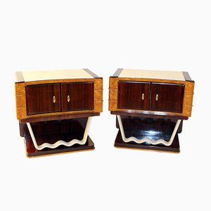 Vintage Night Tables by Oswaldo Borsani for Mobili Trieste, Set of 2