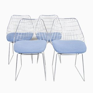 SE05 Wire Dining Chairs by Cees Braakman for Pastoe, 1950s, Set of 4