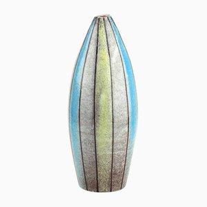 Gestreifte Vintage Keramikvase von Bitossi