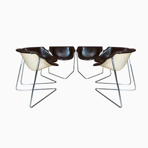 Pussycat Chairs by Kwok Hoi Chan for Steiner, 1960s, Set of 6