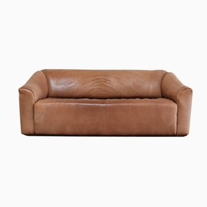 Vintage DS-47 Cognac Neck Leather Three-Seater Sofa from de Sede