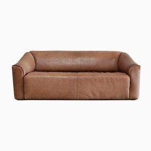 Cognacfarbenes Vintage DS-47 Drei-Sitzer Sofa aus Leder von de Sede