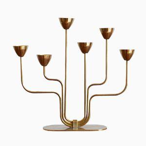 Messing Kerzenständer von Gunnar Ander für Ystad Metall, 1950er