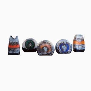 Stoneware Vases from Dumler & Breiden, 1970s, Set of 5