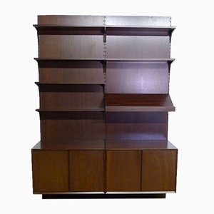 Mid-Century Mahogany Wall Unit by Poul Cadovius for Royal System