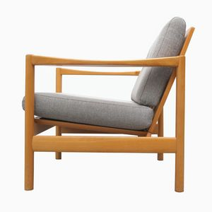 Mid-Century Armchair with Gray Upholstery, 1960s