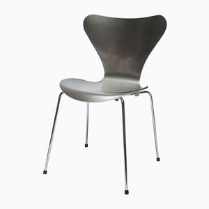 Silver Special Edition 3107 Chair by Arne Jacobsen for Fritz Hansen