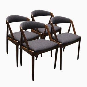 Esszimmerstühle von Kai Kristiansen für Schou Andersen Møbelfabrik, 4er Set