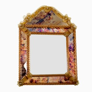 Specchio decorativo in vetro di murano, Venezia, anni '70