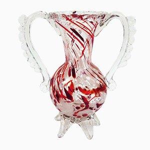 Hand-Blown Murano Glass Vase from Barovier & Toso, 1940s