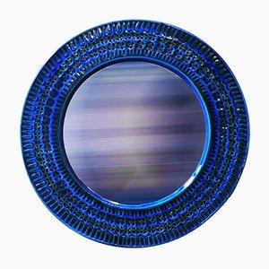 Italienischer Spiegel mit Keramikrahmen von Aldo Londi für Bitossi, 1960er