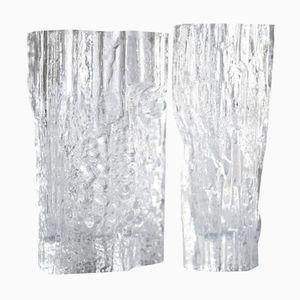 Finnische Glas Vasen von Tapio Wirkkala für Iittala, 1960er, 2er Set