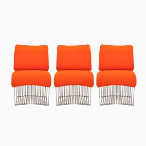 Pantonova Dining Chairs by Verner Panton for Fritz Hansen, 1971, Set of 3