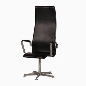 Danish 3272 High Oxford Chair by Arne Jacobsen for Fritz Hansen, 1988