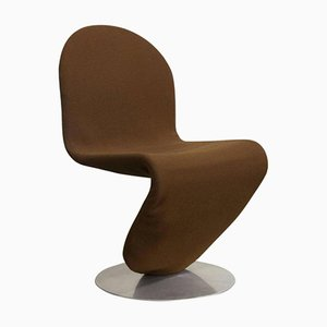 Brown 1-2-3 Series Easy Chair by Verner Panton for Rosenthal, 1980s