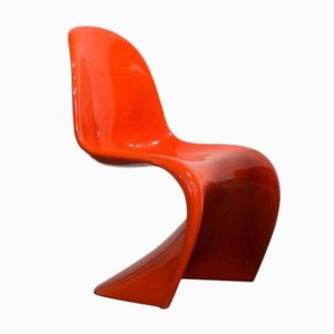 Orange Stacking Chair by Verner Panton for Herman Miller, 1970s