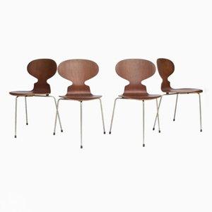 Vintage Ant Stühle von Arne Jacobsen für Fitz Hansen, 4er Set