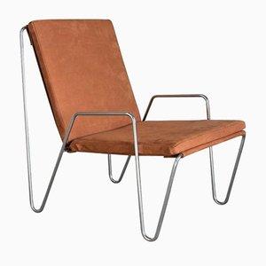 Vintage Bachelor Stuhl aus Wildleder von Verner Panton für Fritz Hansen