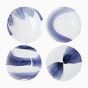 Piatti Siena Murano Blown Glass Dessert Plates by Stories of Italy, Set of 4