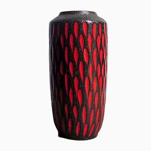 Vaso da terra nero e rosso in ceramica di Scheurich