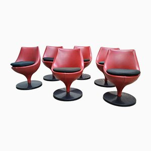 Vintage Polaris F960 Tulip Chairs by Pierre Guariche for Meurop, Set of 6