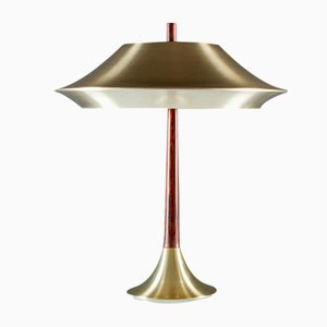 Danish Table Lamp in Rosewood and Metal, 1960s