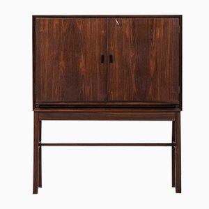 Rosewood & Black Formica Bar Cabinet by Arne-Wahl Iversen for Brenderup, 1950s