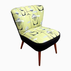 Club Armchair with Sanderson Upholstery, 1950s