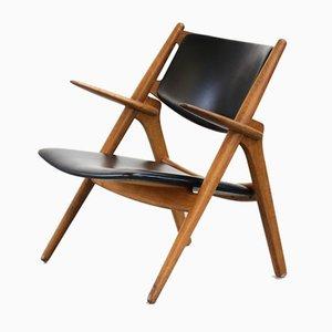 Mid-Century CH28 Sawbuck Chair by Hans Wegner for Carl Hansen