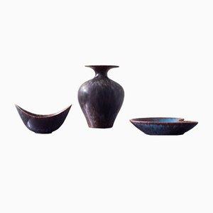 Ceramiche a forma organica di Gunnar Nylund per Rörstrand, anni '50, set di 3