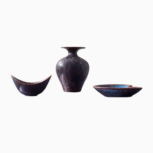 Organic Shaped Ceramics by Gunnar Nylund for Rörstrand, 1950s, Set of 3