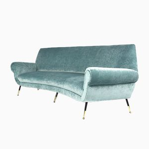 Curved Sofa by Gigi Radice for Minotti, 1950s