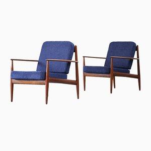 Dänische Vintage Armlehnstühle aus Teak von Grete Jalk für France & Søn, 2er Set