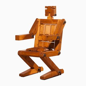 Robot Pine Chair, 1970s