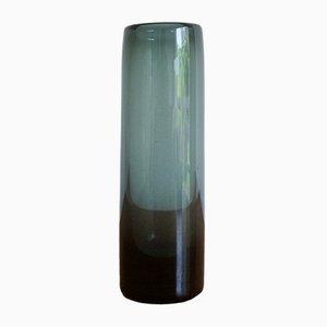 Blaue Glasvase von Per Lutken für Holmegaard, 1962