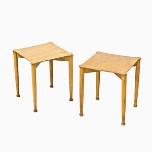 Swedish Side Tables, 1940s, Set of 2