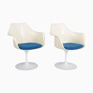 Modell 151 Tulip Armlehnstühle von Eero Saarinen für Knoll International, 2er Set