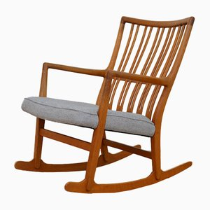 Vintage ML-33 Rocking Chair by Hans J. Wegner for Mikael Lauersen